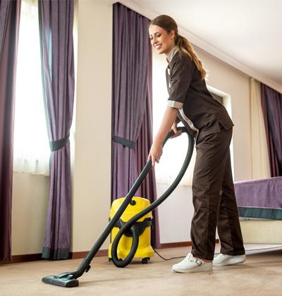 Le nettoyage d'hôtel